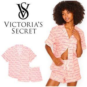 NWT Victoria's Secret cotton short pajamas set
